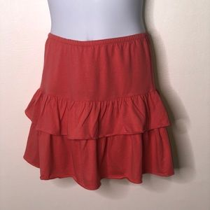 Lands end girls coral Tiered Scooter skirt